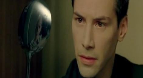 Mátrix filmidézet - Rowan Witt (kanalas kölyök) és Keanu Reeves (Neo)