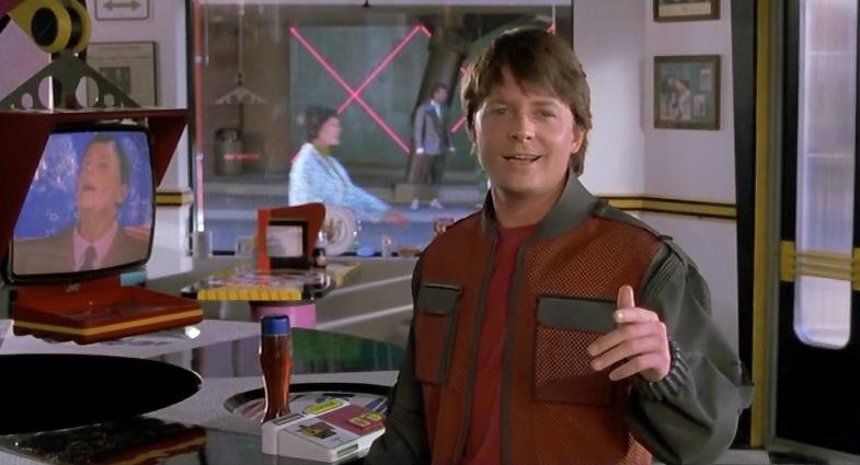 Vissza a jövőbe filmidézet - Michael J. Fox (Marty McFly) és Thomas F. Wilson (Biff Tannen)