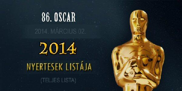 86. Oscar-díj átadás - 2014.