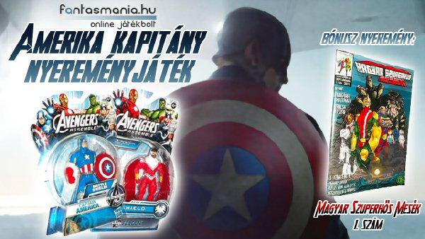 Játék - Amerika Kapitány nyereményjáték