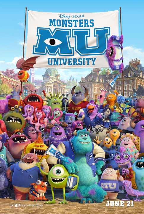 Szörny egyetem (Monsters University) plakát
